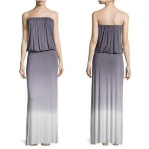 Young Fabulous & Broke Maxi Dress Ombre Gray S